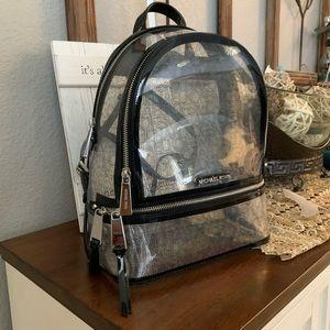 Beautiful clear medium MK backpack 🖤
